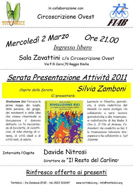 Presentazione Rivoluzione bici con la Fiab di Reggio Emilia