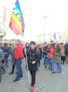 Alla Marcia della Pace del primo gennaio 2020 a Bologna