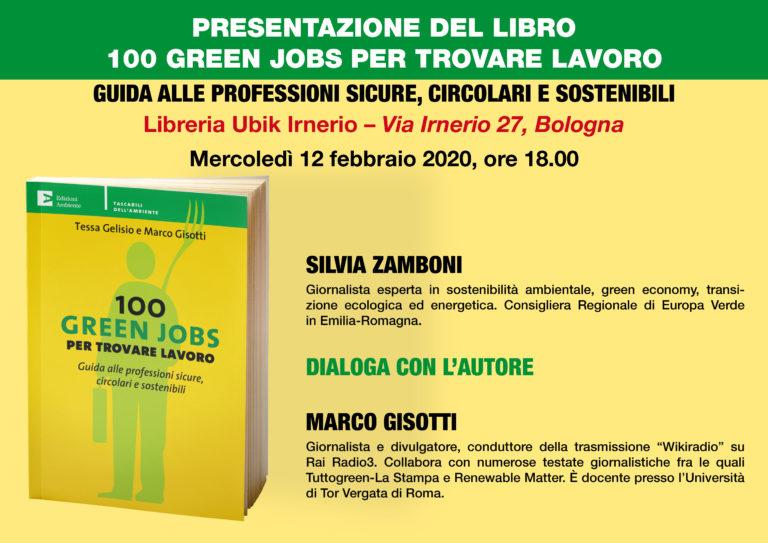 """PRESENTAZIONE DEL LIBRO """"100 GREEN JOBS"""" CON L'AUTORE MARCO GISOTTI"""