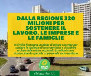 Dalla Regione 320 milioni per sostenere il lavoro, le imprese e le famiglie