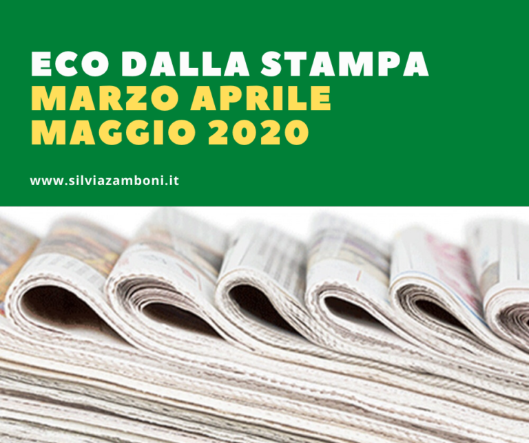 Eco Dalla Stampa – Marzo Aprile Maggio 2020