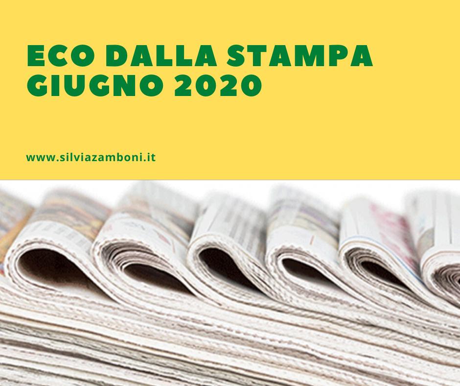 Eco dalla Stampa – Giugno 2020