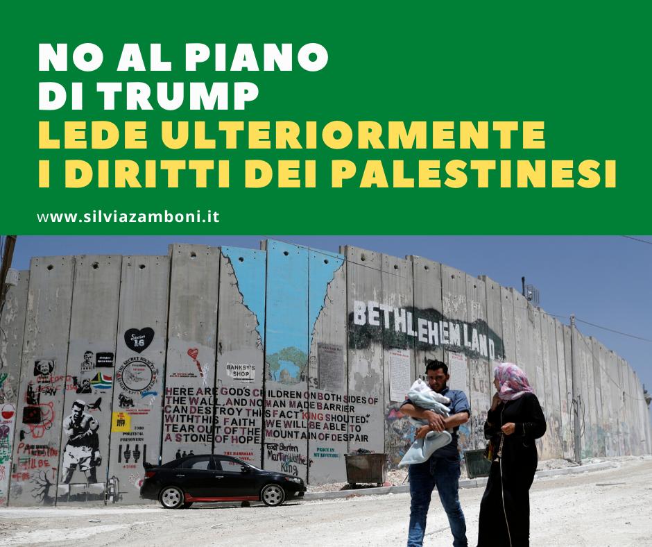 NO AL PIANO DI TRUMP IN ISRAELE CHE LEDE ULTERIORMENTE I DIRITTI DEI PALESTINESI