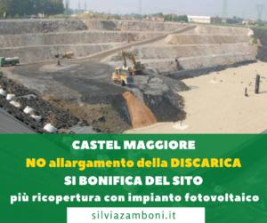 RIFIUTI. MIA INTERROGAZIONE SULLA DISCARICA ASA DI CASTEL MAGGIORE (BOLOGNA) CHE VA CHIUSA.