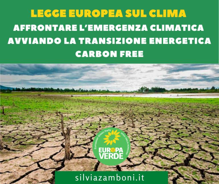 LEGGE EUROPEA SUL CLIMA. LE PROPOSTE DI EUROPA VERDE