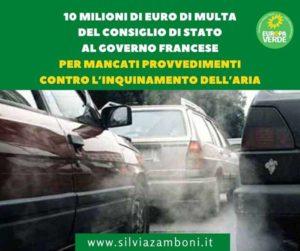 GOVERNO FRANCESE INADEMPIENTE CONTRO L'INQUINAMENTO DELL'ARIA.