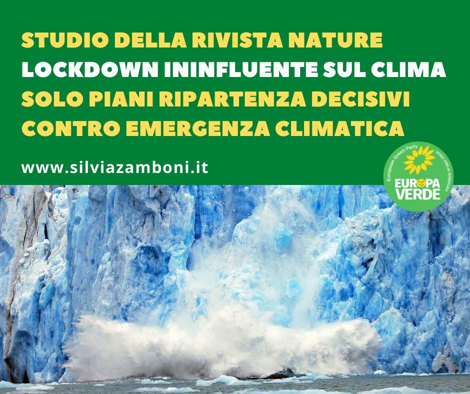STUDIO DELLA RIVISTA NATURE: LOCKDOWN ININFLUENTE SUL CLIMA
