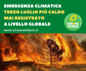 EMERGENZA CLIMATICA: TERZO LUGLIO PIÙ CALDO MAI REGISTRATO