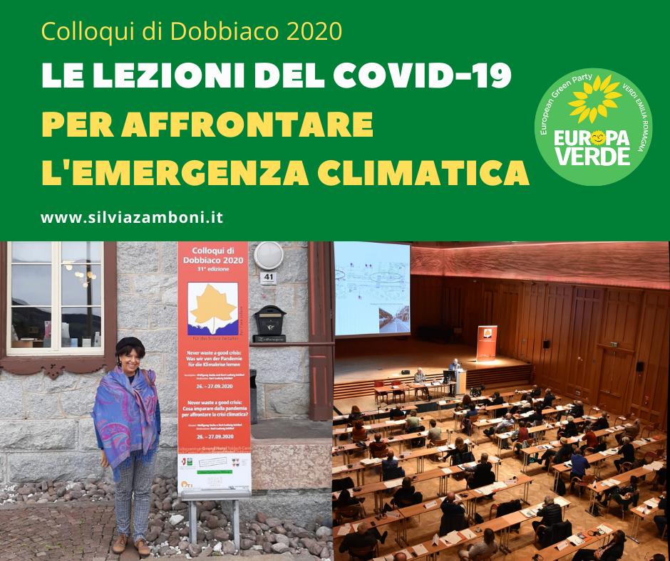COLLOQUI DI DOBBIACO 2020 – LE LEZIONI DEL COVID PER AFFRONTARE L'EMERGENZA CLIMATICA