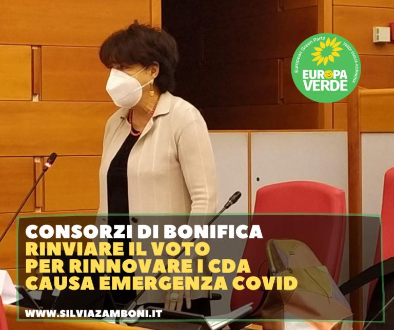CONSORZI DI BONIFICA: RINVIARE IL VOTO PER RINNOVARE I CDA CAUSA EMERGENZA COVID