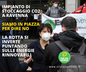 IMPIANTO DI STOCCAGGIO CO2 A RAVENNA. DAVANTI A REGIONE PER DIRE NO