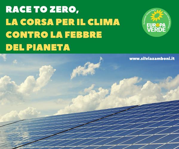 RACE TO ZERO PER AZZERRARE LE EMISSIONI CLIMALTERANTI