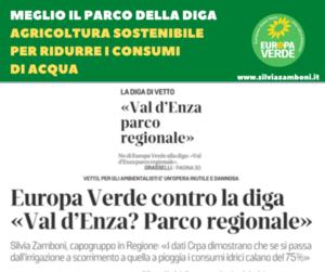DIGA DI VETTO:  MEGLIO IL PARCO REGIONALE E AGRICOLTURA SOSTENIBILE