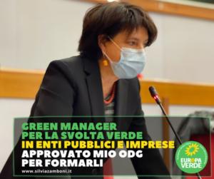 GREEN MANAGER PER LA SVOLTA VERDE IN ENTI PUBBLICI E IMPRESE