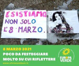 8 MARZO 2021 POCO DA FESTEGGIARE MOLTO SU CUI RIFLETTERE