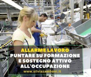 ALLARME LAVORO PUNTIAMO SULLA FORMAZIONE