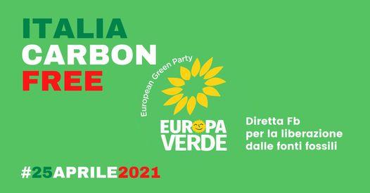 25 APRILE: ITALIAN CARBON FREE. REGISTRAZIONE VIDEO