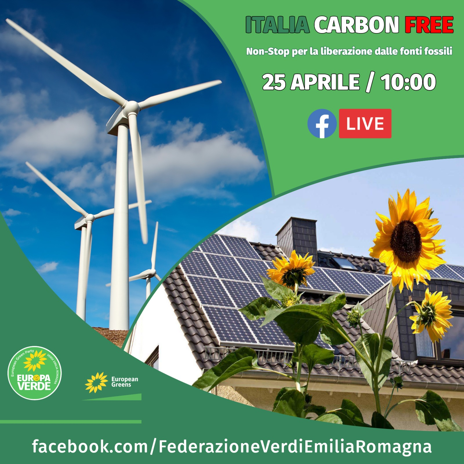 25 APRILE 2021. ITALIA CARBON FREE, LIBERIAMOCI DALLE FONTI FOSSILI