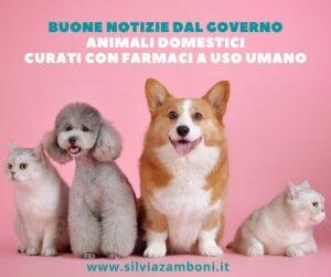 BENESSERE ANIMALE. NUOVA MISURA DEL GOVERNO