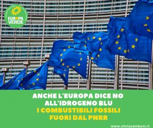 ANCHE L'EUROPA DICE NO ALL'IDROGENO BLU. I COMBUSTIBILI FOSSILI FUORI DAL PNRR