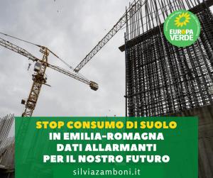Stop consumo di suolo. In Emilia-Romagna dati allarmanti per il nostro futuro