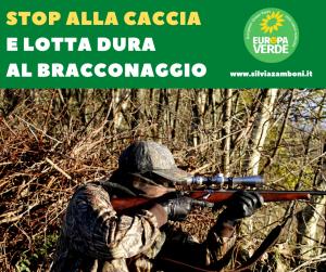 STOP ALLA CACCIA E LOTTA DURA AL BRACCONAGGIO