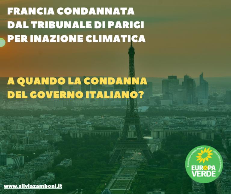 Inazione climatica, a quando la condanna del governo Italiano?